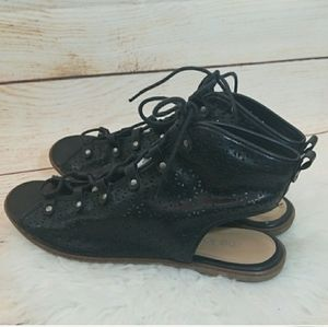 Me Too Ilene lace up open toe ankle sandals sz 10